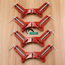 4x DIY WOODWORK CLAMPS PICTURE FRAME HOLDER RIGHT ANGLE CORNER SQUARE MITRE VICE