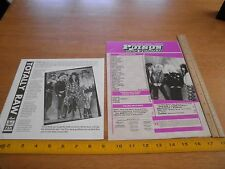 1989 Poison magazine pages insert Bret Michaels Sexy w/ fan club flyer
