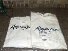 More details for 2 x white professional chefs jacket  size 100cm and 92 cm  cotton      alexandra