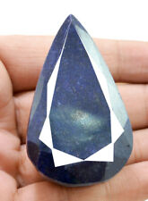 495ct Natural Rare Faceted Pear Shape Blue Sapphire Loose Gemstone on ebay