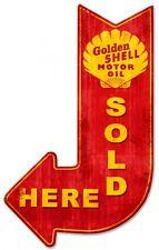 SHELL Pure Blechschild Gasoline USA Benzin Oil Service Werkstatt Schild Werbung