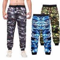 Mens Camouflage Camo Cargo Army Pants Harem Joggers Sport Sweatpants Trousers US