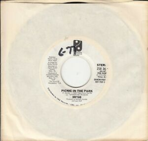 MFSB Picnic In The Park White Label Demonstration 45-rpm Record EX Vinyl