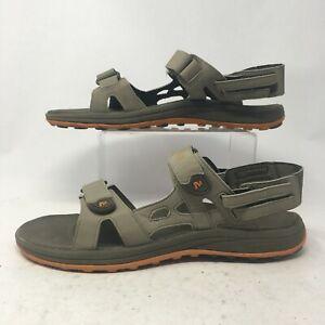 Merrell Mens 10 Cedrus Convertible Sports Sandal Brown Faux Leather J149842C