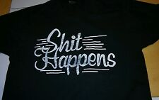 Vintage Sh*t Happens T Shirt Screen Stars Medium