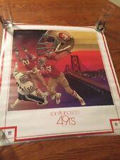 San Francisco 49ers Football NFL Properties Poster 1979 Vintage In Unused