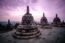 Borobudur Temple Compounds Java Indonesia Photo Art Print Poster 24x36 inch