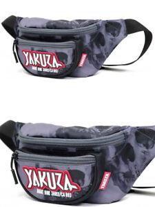 Yakuza Gürteltasche Allover Skull schwarz 18301 Unisex Bauchtasche Streetwear