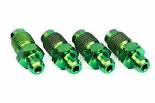 4x Titanium Bleed Nipple Screws M10 x 1.0 Green Brembo Calipers Subaru STI, Evo