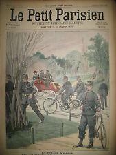 POLICE DE PARIS A BICYCLETTE ALPINS CREVASSE JOURNAL LE PETIT PARISIEN 1900