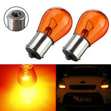 2x 12V Car Motorcycle Scooter Indicator Amber Turn Signal Light Bulb BA15S P21W