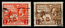 GREAT BRITAIN: 1925 CLASSIC ERA STAMP COLLECTION SET SCT 203-04 CV $112.50 SOUND