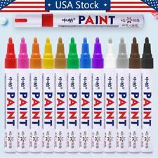 Paint Markers Pen 12 Colors Fine Oil Based Art Pen Car Tyre Tire Tread Rubber