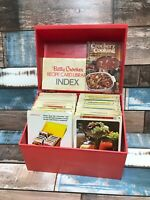 Betty Crocker Vintage 1971 Index Recipe Card Library RED Box