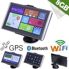 "7"" Android Car Truck GPS Navigation Navigator SAT NAV Bluetooth WiFi Europe Map"