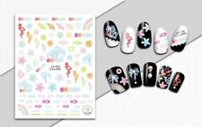 Nail Art 3D Decal Stickers Rainbow Beach Fish Palmtree Flamingo Seashell CA030