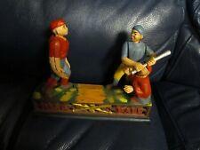 Vintage Cast Iron Baseball Mechanical Bank Reproduction