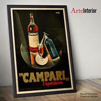 CAMPARI BITTER 1926 - Stampa FINE ART ad Alta Risoluzione fino a 70x100 POSTER