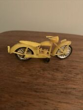 Plastic Yellow Thin Vintage Motorcycle Bike
