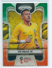 2018 Panini Prizm World Cup Neymar JR Green Orange Wave  Brazil