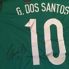 Hand Signed Giovani Dos Santos Mexico Shirt PROOF