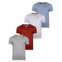 Mens Kangol Speckle Marl Short Sleeve Crew Neck T-Shirt With Contrast Rib Detail