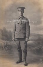 RPPC Postcard: WW1 - Studio Portrait of a Royal Fusilier (City of London Reg.)