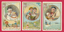 LIEBIG  -  RARE SET OF 6 CARDS - S  488  /  F  480  -  LITTLE  &  LARGE  -  1896