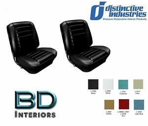 1965 Chevy El Camino Front Bucket Seat Upholstery By Distinctive Ind. ANY COLOR!