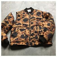 CAMO 80s VTG Trophy Club VEST Jacket L Bomber Camouflage Puffer Hunting 90s
