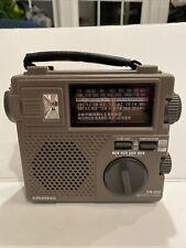 GRUNDIG FR-200 AM/FM/SW Emergency Radio Battery or Hand Crank Radio Light