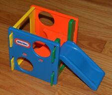 Vtg MINI Little Tikes Dollhouse Climbing Cube Blue Slide Playground
