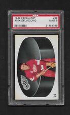 1962 Parkhurst Hockey Card - #32 Alex Delvecchio - PSA 9 -See Scan - Set Break -