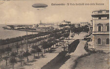 NP7516 - CIVITAVECCHIA ROMA - IL VIALLE VISTO DALLA STAZIONE VIAGGIATA 1914