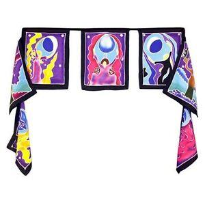 Moon Godess Flags - Seven Batik Flags - 32cm x 23cm - Bali Batik