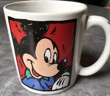 Mickey Mouse Coffee Cup Disney Store Tea Mug Mickey Written On Handle Pop Art