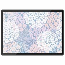 Plastic Placemat A3  - Abstract Floral Pattern Flowers Purple  #44016