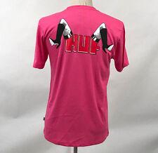 HUF Worldwide Men's T-Shirt Spread Hot Pink Size M NEW Legs Garter Fishnet