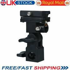 UK Hot shoe Flash Speedlite Bracket B Type Umbrella Holder Swivel Light Stand