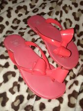 c8179fe6ae197e DIZZY Flip Flop Sandals Women s 7 38 (Medium) Coral Red Jelly Bowed Thong