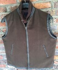 Mens 100% Cashmere Brown Vest Size XL