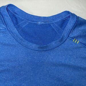 Lululemon XL BLUE Metal Vent Tech MENS Long Sleeve Top Shirt
