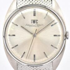Auth IWC INTERNATIONAL WATCH Co Schaffhausen Hand-winding Men's Watch k#74468