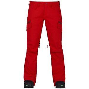 NWT WOMENS BURTON GLORIA SNOW PANTS $180 fiery red slim fit snowboard