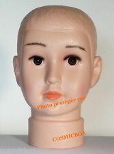 TETE de mannequin enfant présentation magasin garçon chapeaux lunettes chérubin