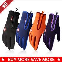 Men Women Winter Windproof Waterproof Anti-slip Thermal Gloves Sport Riding