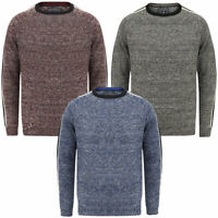 Tokyo Laundry Men/'s Textured Panel Wool Mix Crew Neck Knitted Jumper Sweater Top