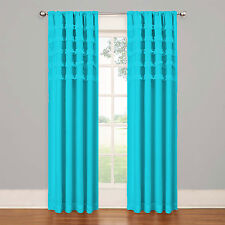 800 TC Top Ruffle Curtains 2-Panel Top Rod Pocket Choose Color & Size