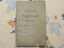 TABLEAUX MODERNES / COLLECTION FAURE / CATALOGUE ILLUSTRÉ / 1873