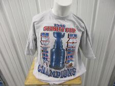 VINTAGE TEAMWORK NEW YORK RANGERS 1996 NHL STANLEY CUPS CHAMPIONS XL GREY SHIRT